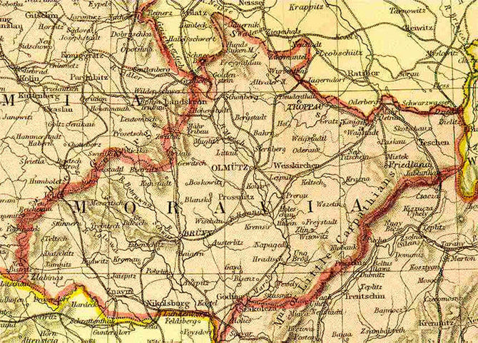 map of bohemia with Moravia1882 on Czechoslovakia German Protectorate Of in addition Map besides Protektorat Cechy A Morava besides List of castles in south moravia together with 01 0278b.