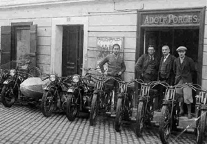 Adolf Porges' moto shop